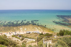 Beach Scala dei Turchi Royalty Free Stock Image