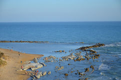 Beach at Scala dei Turchi near Agrigento, Sicily Stock Photos