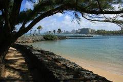 Between. Beach scenary at San Juan, Puerto Rico Stock Photo