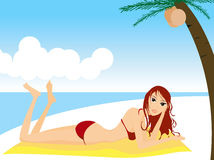 Beach Scene Royalty Free Stock Images