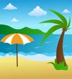 Beach scene. A background scene of a beach Vector Illustration