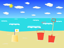 Beach scene. Royalty Free Stock Images