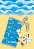 Beach scene royalty free illustration