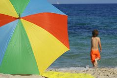 Beach scene. Fun at beach summer vacation Royalty Free Stock Photography