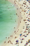 Beach scene, aerial view stock images