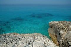 Beach scene in Albania stock images