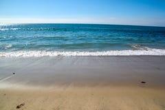 Beach Scene. Beautiful blue ocean scene in California, USA Royalty Free Stock Photography