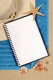 Summer beach background holiday writing book copy space vertical royalty free stock photography