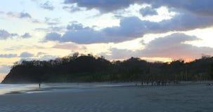 Beach scene in Costa Rica at sunset 4K. A Beach scene in Costa Rica at sunset 4K stock video