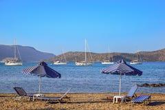 Beach scene on Crete Stock Images