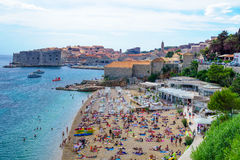 Beach Scene, Dubrovnik Stock Photography