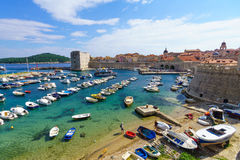 Beach Scene, Dubrovnik Royalty Free Stock Photo