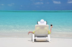 Beach scene. Exema, Bahamas Royalty Free Stock Images