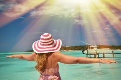 Beach scene. Exuma, Bahamas Royalty Free Stock Images