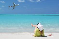 Beach scene, Exuma, Bahamas Royalty Free Stock Photo
