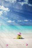 Beach scene, Exuma, Bahamas Stock Images