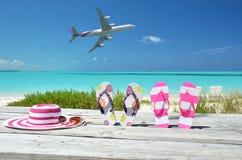 Beach scene. Exuma, Bahamas Stock Image