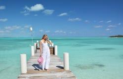 Beach scene, Exuma, Bahamas Royalty Free Stock Photos