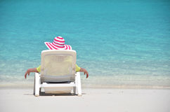 Beach scene. Exuma, Bahamas Royalty Free Stock Images