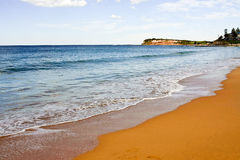 Beach scene with golden sand Royalty Free Stock Photos