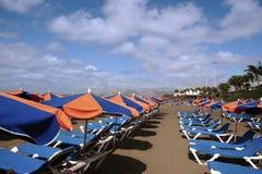 Beach scene ii. A view of a lanzarote beach royalty free stock photo
