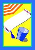 Beach scene illustration Royalty Free Stock Photography