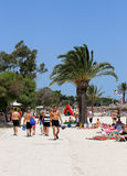 Beach scene on island of Majorca Stock Photos