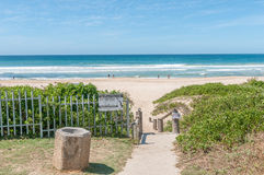 Beach scene in Jeffreys Bay Stock Images