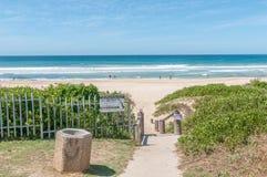 Beach scene in Jeffreys Bay Stock Images