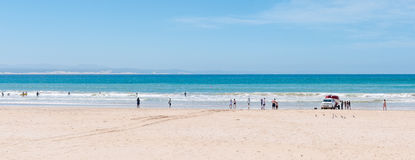 Beach scene in Jeffreys Bay Stock Photo