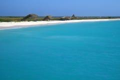 Beach scene in Klein Curacao stock photography