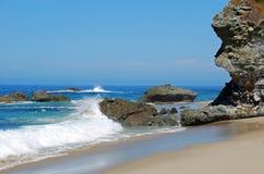 Beach scene in Laguna Beach, California. Royalty Free Stock Images