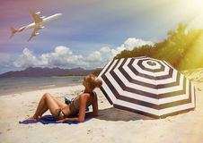 Beach scene. Royalty Free Stock Image