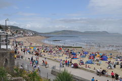 Beach Scene at Lyme Regis, Dorset, UK Royalty Free Stock Photos
