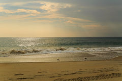 Beach scene in Nags Head NC sunrise on a clear blue day Stock Image