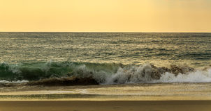 Beach scene in Nags Head NC sunrise on a clear blue day Stock Images