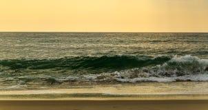 Beach scene in Nags Head NC sunrise on a clear blue day Stock Photos