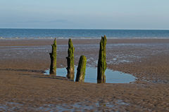 Beach Scene, near Silloth, Cumbria, Lake District royalty free stock photo