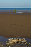 Beach Scene, near Silloth, Cumbria, Lake District Stock Images
