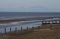 Beach Scene, near Silloth, Cumbria, Lake District Stock Photography