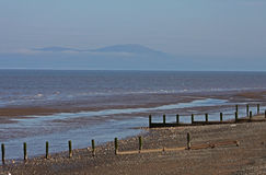 Beach Scene, near Silloth, Cumbria, Lake District Royalty Free Stock Photos