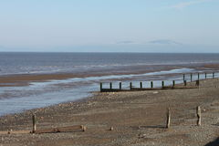 Beach Scene, near Silloth, Cumbria, Lake District Stock Images