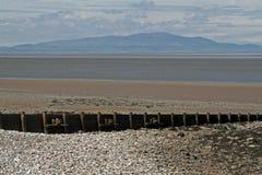 Beach Scene, near Silloth, Cumbria, Lake District Royalty Free Stock Photo