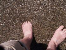 Beach Scene in Nerja, a sleepy Spanish Holiday resort on the Costa Del Sol  near Malaga, Andalucia, Spain, Europe Royalty Free Stock Image