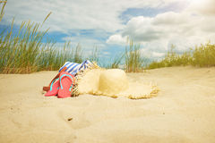 Beach scene,  summer accessories, Stock Photography