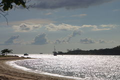 Beach scene Torres Strait from Seisia beach Cape York Australia Royalty Free Stock Photos