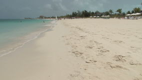Beach scene on turks and caicos islands stock video