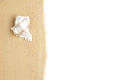 Beach Scene on White Royalty Free Stock Photography