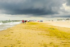A windy day at Warnemunde, Rostock Germany Royalty Free Stock Images