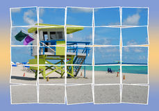 Beach scenery stock illustration